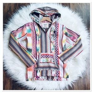 Beach By Exist Hooded Top Multi Color Bohemian S